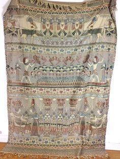Egyptian style 1930's single bedspread/throw by BetulaBirch