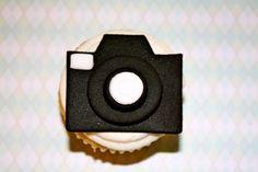 Las cámaras del fotógrafo / cuadro días Cupcake de Fondant y