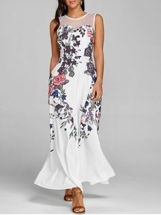 GET $50 NOW   Join RoseGal: Get YOUR $50 NOW!https://www.rosegal.com/maxi-dresses/floral-print-mesh-panel-maxi-dress-1906201.html?seid=4695937rg1906201