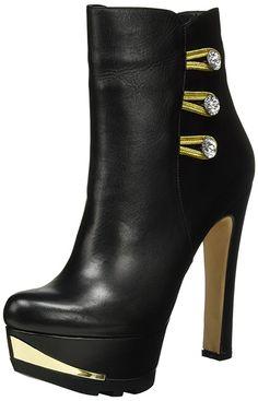 Fersengold Damen Mailand Stiefel, Schwarz (Schwarz), 38 EU