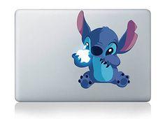 """Stitch Lilo Stitch Disney Adorable Apple ordinateur portable Macbook autocollant rétine/Pro/Air 11/13/15/17""""  Amovible en vinyle autocollant"""