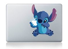 "Stitch Lilo Stitch Disney Adorable Apple Macbook Laptop Sticker Air/Pro/Retina 11/13/15/17"" | Removable Vinyl Decal"
