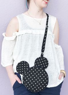"NEW: Disney Mickey Mouse ""inspired"" version of our popular round bag pattern the Alice Bag Handbag Sewing Pattern!"