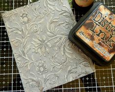 Tim Holtz Embossing Botanical Sizzix Distress Oxide Paint Tutorial for The Funkie Junkie Boutique 3 Embossing Techniques, Card Making Techniques, Art Techniques, Oxide Paint, Design Tape, Decorative Plaster, Tim Holtz Distress Ink, 3d Texture, Distress Oxide Ink