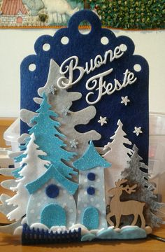 Ancora auguri...luisa valent Easy Christmas Ornaments, Felt Christmas Decorations, Christmas Scenes, Christmas Makes, Christmas Art, Christmas Wreaths, Christmas Fashion, Christmas 2017, Christmas Stockings
