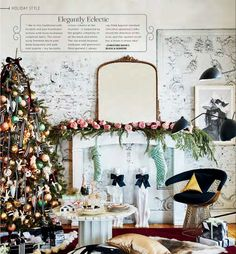 eclectic style Christmas decorating idea