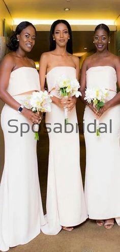 Ivory Mermaid Unique Elegant Long Bridesmaid Dresses WG881  #Long #mismatched #blush #summer #bridesmaiddress #fall #bridesmaiddresses #bridesmaids #weddingguest #wedding #Modestbridesmaiddress #cheapdress #mermaid #summer #beach Elegant Bridesmaid Dresses, Strapless Dress Formal, Formal Dresses, Wedding Dresses, Bridesmaids, Maid Of Honour Dresses, Famous Brands, Dress Backs, Cheap Dresses