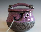 DISCOUNTED Kitty-Proof Yarn Bowl, cat yarn bowl, ceramic yarn bowl, knitting bowl, yarn bowl, yarn holder
