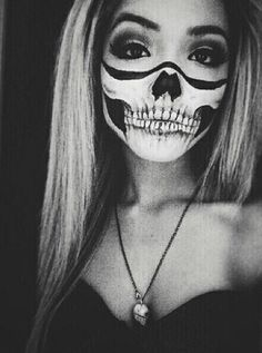 halloween makeup scull