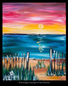 Summer Sunset Painting - Jackie Schon, The Paint Bar