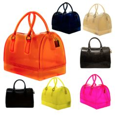Candy Jelly Doctor Bag Style Clean Solid Color With Shoulder Strap Bag
