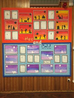 Hot and cold display board. Hot and cold scenes and writing. Grade 2 Science, Elementary Science, Year 1 Classroom, Science Classroom, School Displays, Classroom Displays, Meerkat Mail, Arctic Habitat, Snail And The Whale