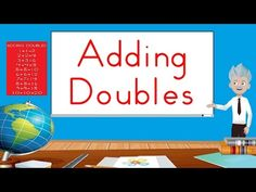 The Elementary Math Maniac: Teaching Math with You Tube Videos: Addition Facts Doubles Song, Math Doubles, Doubles Facts, Counting Songs, Math Songs, Kids Songs, Doubles Addition, Math Addition, Addition Facts