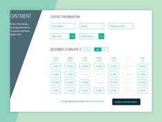 Reservation UI designed by Sarah Babetski. Calendar Ui, Calendar Design, Web Ui Design, Page Design, Financial Dashboard, Restaurant App, Ui Web, Start Up Business, Interface Design