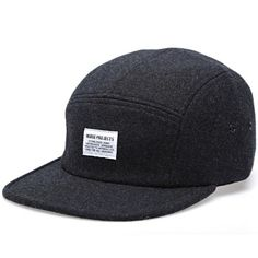 Norse Projects Wool Flannel 5 Panel Cap (Charcoal Grey) Jordan Cap 66c78d56eabc