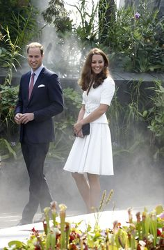 Britain's Prince William and Catherine, Duchess of Cambridge, tour the Cloud Forest at Gardens by the Bay in Singapore September 12, 2012.
