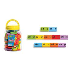 Phonics Dominoes-Short Vowels. The phonics fun really stacks up with these colorful dominoes! Build hundreds of words with 84 dominoes pre-printed with high-utility consonants (s, m, t, etc.) and important phonograms (word families). Perfect for word forma.