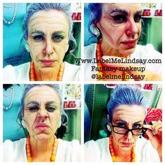 Old lady makeup Halloween makeup wrinkle makeup label me Lindsay fantasy makeup easy Halloween face painting