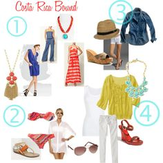Heading somewhere tropical???  My cousin Leslie put together this blog for my trip to Costa Rica.  Follow her Fashionable Chicks blog.  She has great taste!!