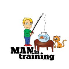NEW SHIRT!  Our Man In Training is ready to catch the big one. Don't fall for it, Goldie! - See more at: http://manintraining.gostorego.com/shop/fisherman-135.html#sthash.NNV3IQE7.dpuf