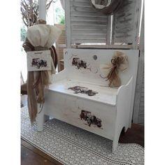 Σετ Βάπτισης για αγόρι με θέμα το αυτοκίνητο αντίκα Toddler Bed, Bench, Storage, Furniture, Home Decor, Vintage, Child Bed, Purse Storage, Decoration Home
