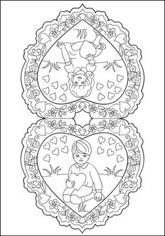 Image detail for -Free Coloring Pages: Vintage Valentines * Vintage inspiration Wedding Coloring Pages, Unique Coloring Pages, Valentine Coloring Pages, Spring Coloring Pages, Free Coloring Pages, Coloring Books, Vintage Valentines, Kids Valentines, Vintage Colors