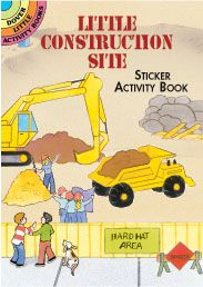 little construction site sticker activity book these little books are perfect for 2 3