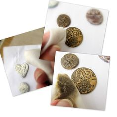 Viktoria Slutsky - Claying Mama: Tutorial - Making Lace Polymer Clay Buttons