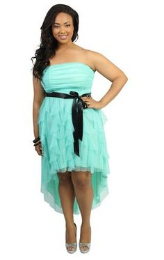 396f4f6e62f The unfortunate thing of this dress is that the bust has no support so it  looks like you are going with no bra. ~~plus size glitter mesh strapless  high low ...