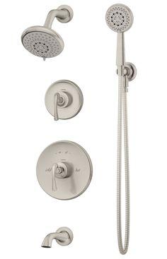 Symmons® - 5206-STN - Ballina™ Tub/Shower system w/Hand Shower - Satin Nickel