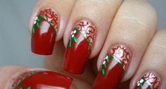 lindas dicas de unhas para o natal