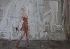 "Saatchi Art Artist Fanny Nushka Moreaux; Painting, ""Running Late (SOLD)"" #art"