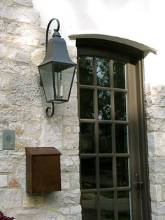 Exciting outdoor lighting landscape - take a look at our guide for way more inspirations! Porch Light Fixtures, Exterior Light Fixtures, Exterior Lighting, Outdoor Lamp Posts, Outdoor Wall Lantern, Hanging Lanterns, Front Door Lighting, Outdoor Wall Lighting, Lighting Ideas
