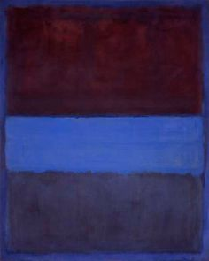 Mark Rothko (1903-1970), « N°61 Rust and Blue », 115 x 92 cm, 1951, musée d'art contemporain de Los Angeles.