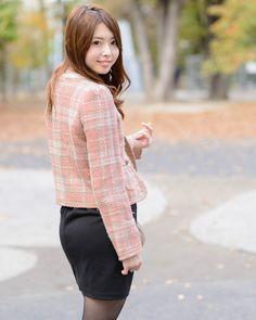 ◆美人スナップ16Nov2014|松下侑衣花さん │ Rew de Rew(ルゥデルゥ)ツイードジャケット http://www.bijin-snap.com/2014/11/16/no-1300/ #松下侑衣花 #Yuika_Matsushita