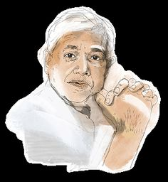 Over spicy 'Calcutta Chinese' food, the novelist talks about the 'cognitive problem' that separates India and China, and surfacing for air after completing his epic Ibis trilogy. Illustration by Patrick Morgan of Amitav Ghosh