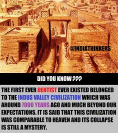 Indus Valley civilization was considered as one of the most advanced civilization of the world who put forward the accurate measurement systems in the world. True Interesting Facts, Some Amazing Facts, Interesting Facts About World, Intresting Facts, Unbelievable Facts, Amazing Things, Wierd Facts, Wow Facts, Wtf Fun Facts