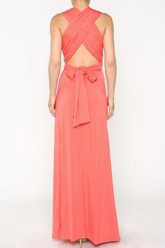 Coral Multi-Way Maxi Dress – Moonshine & Lace
