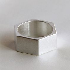Handmade 999 sterling silver nut rings
