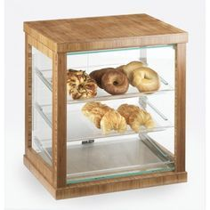 Bamboo Bakery Display Case Item: 284-60 (Attendant Serve) 284-S-60 (Self Serve) This unique display case boasts of brightness. The beautiful bamboo work draws out the beauty in any room. The durable bamboo frame includes acrylic double doors as well as acrylic trays.