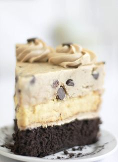 chocolate chip cookie dough devil's food cheesecake.