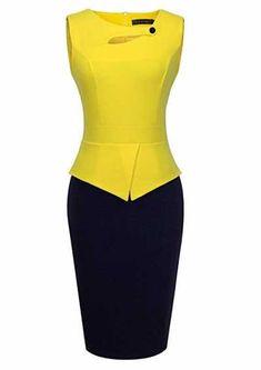 Homeyee Vestido Para Mujer Ofertas especiales y promociones  Caracteristicas Del Producto: Vestido corto animada vaina vestido túnica imperio cintura Sli