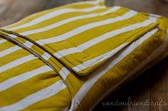Baby swaddler/snuggler wrap  Yellow Lines by WindowFriendCrafts, $34.00