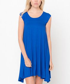 Look what I found on #zulily! Royal Cap-Sleeve Tunic Dress #zulilyfinds