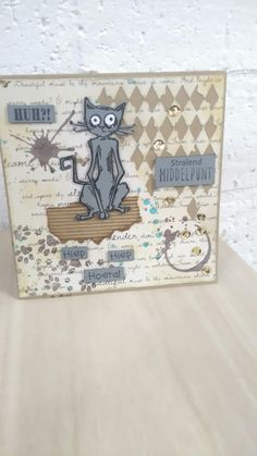 Card with stuff from Tim Holtz made by colette