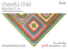 Cheerful Child is a baby blanket CAL (crochet along) on pinkmambo.com that appeared every Monday and Thursday January 7-today. That's right, today we are wrapping up Cheerful Child with the border pattern! If this is the first you've heard of this CAL, you'll want to check out all the information in the original CAL post here. Cheerful Child features granny-style blocks in a variety of designs, all on the easy side. it's made of 25 squares plus a border. Twelve  {Read More}