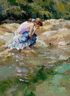 By Alexi Zaitsev, from Russia (b. 1959) - oil on canvas -
