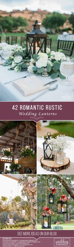 We would like to get you some inspiration on how to rock rustic wedding lanterns in your big day. We gathered super chic and fabulous examples for you! Lanterns are a great choice if you are looking for a way to light up your wedding. Rustic Country Wedding Decorations, Country Wedding Dresses, Wedding Dress Styles, Rustic Wedding, Wedding Ideas, Wedding Lanterns, Lanterns Decor, Party Venues, Wedding Arrangements