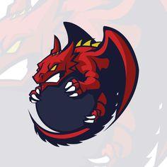 Gaming Logo, Logo Dragon, Dragon Sports, Game Logo Design, Esports Logo, Mascot Design, Logo Concept, Animal Logo, Cool Logo