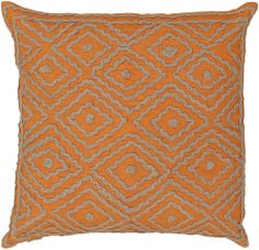 Natural Diamond Pattern Pillow in Orange | Luxurythrowpillows.com | CLICK HERE for more information | From $116 +